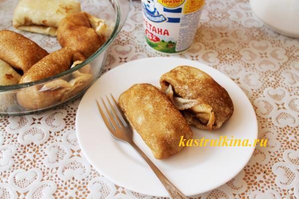 Рецепт блинов с мясом и сельдереем на заварном тесте