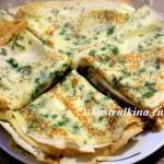 блины с твердым сыром и зеленью