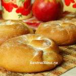 булочки ensaimadas с яблоком