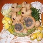пасхальные булочки кролики
