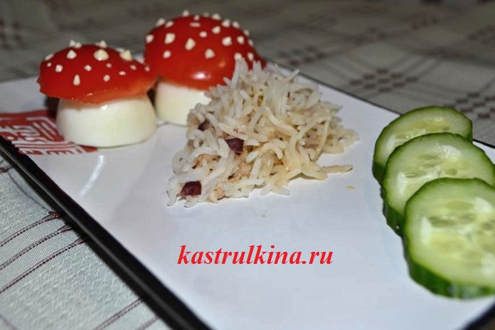 детские мясные ежики с рисом в мультиварке
