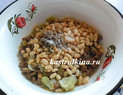 добавить в начинку фасоль