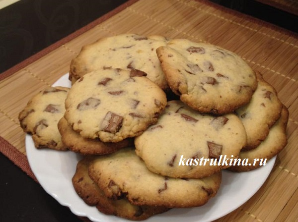 Печенье с шоколадными кусочками за 20 минут