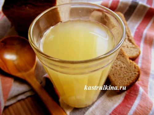 Как приготовить домашний хлебный квас