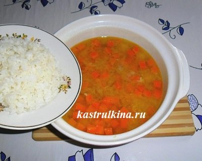 добавить рисовую крупу