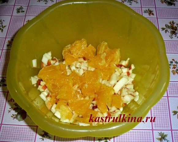 добавляем апельсин в начинку