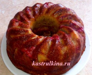 фруктовый пирог со свежей клубникой фото