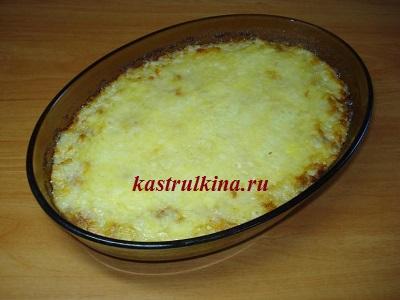 готовая запеканка из картофеля и мяса