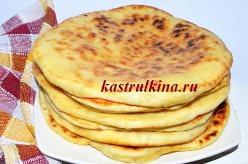 Рецепт хачапури с сыром на пресном бездрожжевом тесте