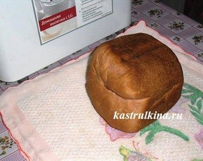 положите хлеб набок для остывания