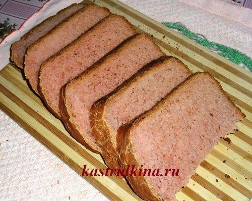 хлеб к чаю с вишневым соком в хлебопечке