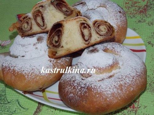 Испанские булочки «Ensaimadas» с корицей