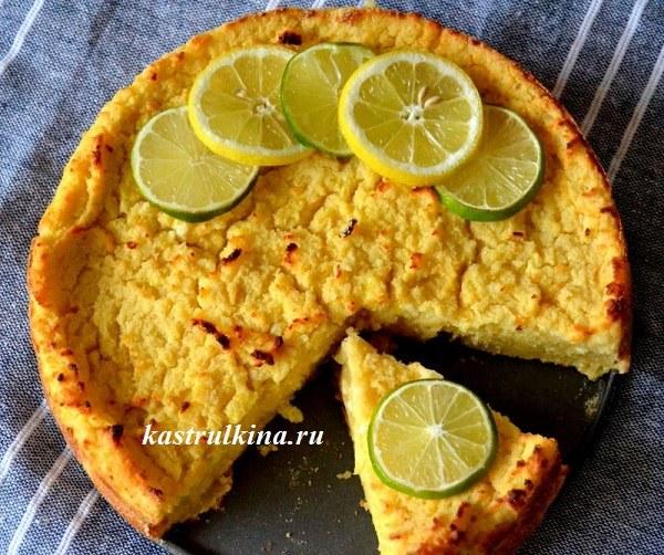 Итальянский сырный пирог с рикоттой и лимоном на манной каше