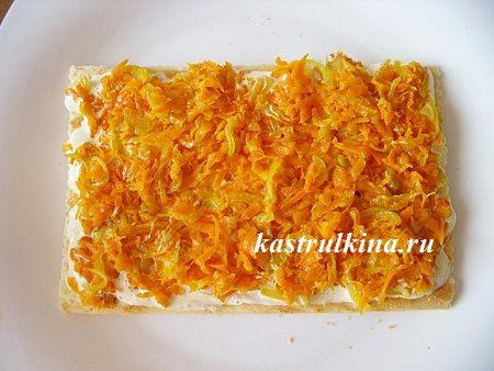 как готовить закусочный торт слой из моркови