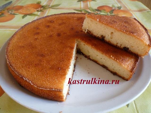 Пирог манник с изюмом, рецепт с пошаговыми фото