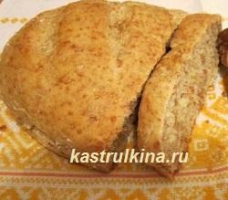 постный хлеб из пшеничной крупы