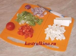 греческий салат с брынзой и китайской капустой фото 5