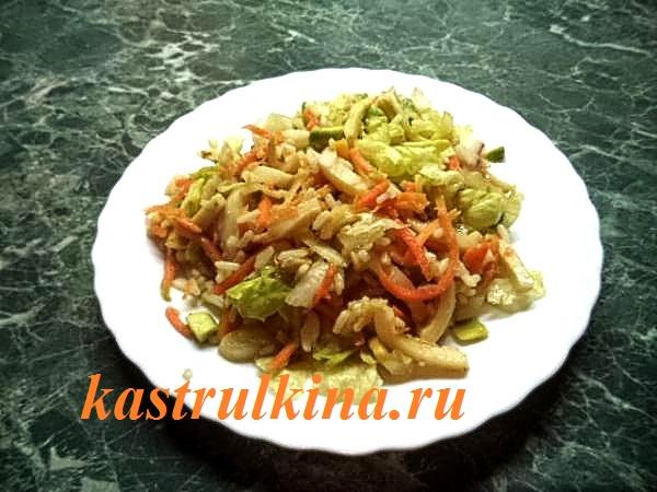 как приготовить салат из кальмаров и авокадо фото 13