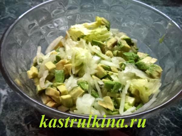 салат с авокадо и кальмарами фото 8