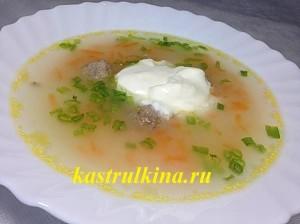 как приготовить суп с мясными фрикадельками фото