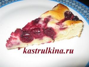 как приготовить пирог с вишнями из бездрожжевого теста