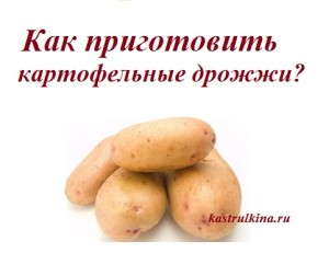 Картофельные дрожжи для выпечки, делаем сами