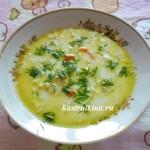 капустный суп с плавленным сыром в микроволновке
