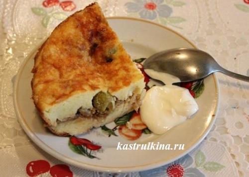 картофельная запеканка с сыром и оливками