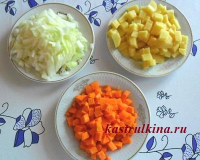 картошка, морковка и лук