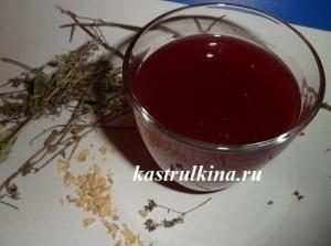 кисель от простуды из замороженных ягод с травами и пряностями