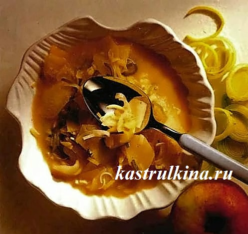 кислосладкий яблочный соус к мясу