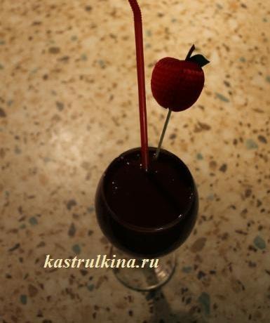 коктейль с шоколадом готов