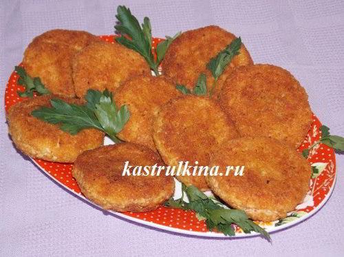 Котлеты из крабовых палочек или крабового мяса