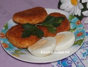 крабовые котлеты из мяса или палочек с сыром