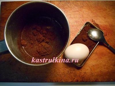 красим яйца в коричневый цвет при помощи кофе