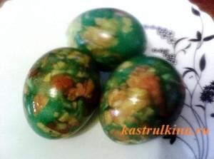 """красивые крашенные пасхальные яйца """"Мозаика"""""""