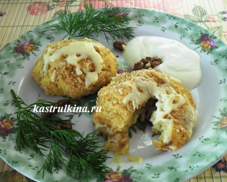 крокеты из гороха с картофелем готовы