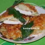 куриное филе, запеченное с картофелем и сыром