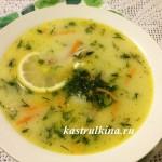 куриный суп с плавленным сыром