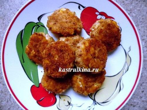 куриные котлеты с консервированной кукурузой