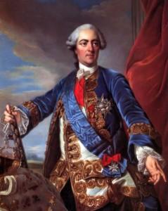 французский король Людовик 15