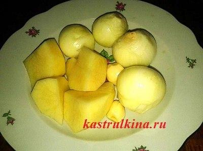 лук, картошка, чеснок