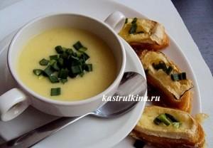 луковый суп с сырными гренками