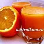 кисель из тыквы и апельсинов