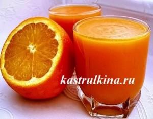 оранжевый кисель из тыквы и апельсинов