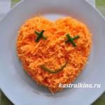 острый салат из сырой моркови