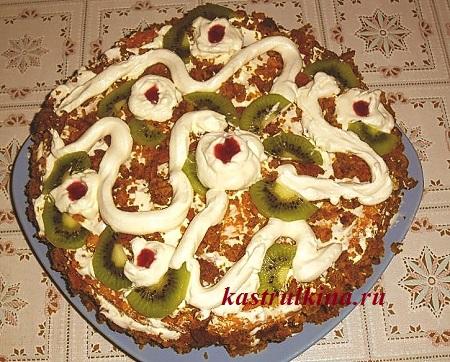 овощной тортик на десерт