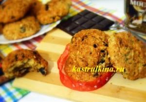 овсяное печенье с черносливом и шоколадом