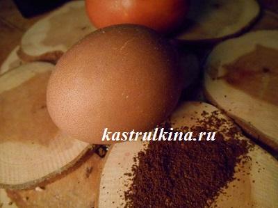коричневое пасхальное яйцо