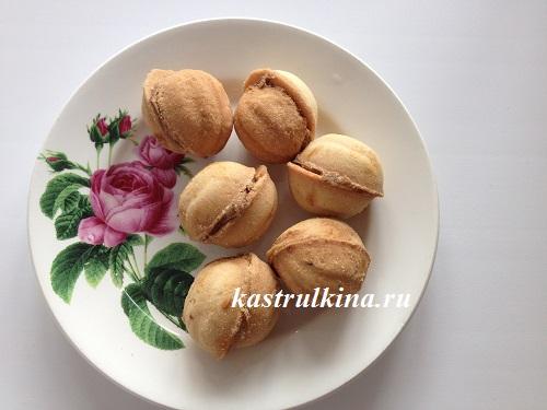 печенье орешки с начинкой из вареной сгущенки